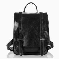 Шкіряний рюкзак чорний