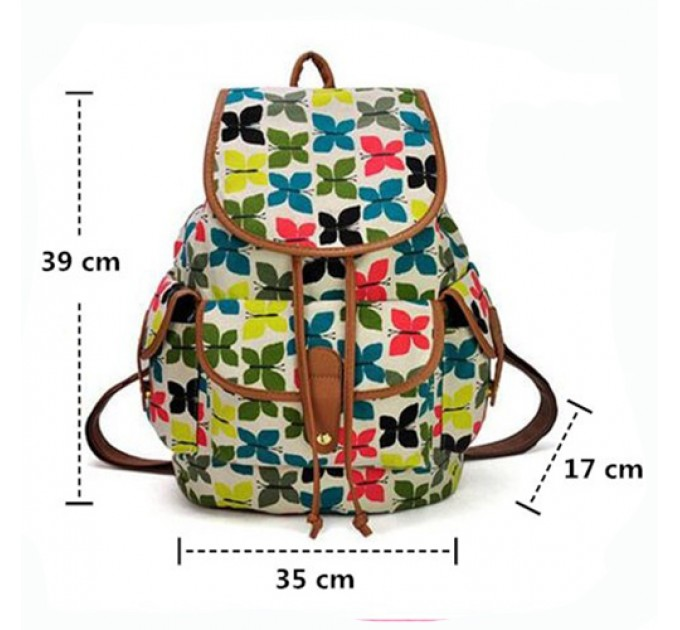 Жіночий рюкзак метелики
