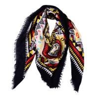 Женский платок богемный черный