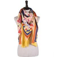 Женский платок богемный желтый