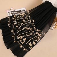 Жіночий шарф чорний бута