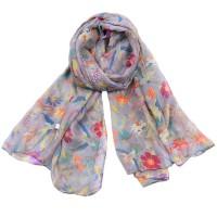 Жіночий шарф принт колібрі