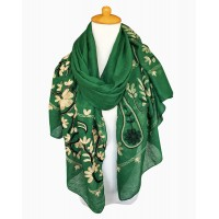 Жіночий шарф вишивка пейслі