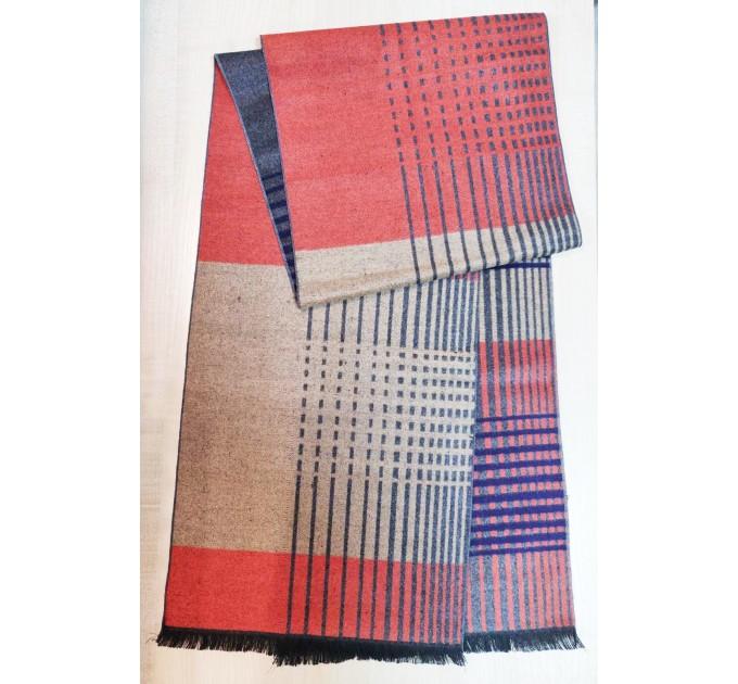 Чоловічий шарф з смугами