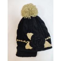шапка Цветок black