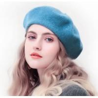 Берет блакитний жіночий