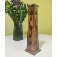 Пенал для пахощів вертикальний дерев'яний