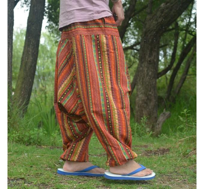 Індійські штани чоловічі для йоги зуави