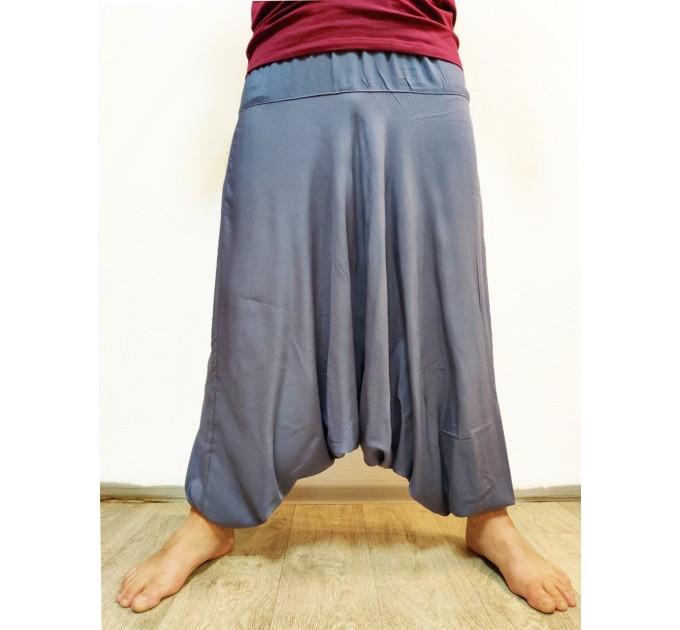 Чоловічі штани алладіни сірі однотонні