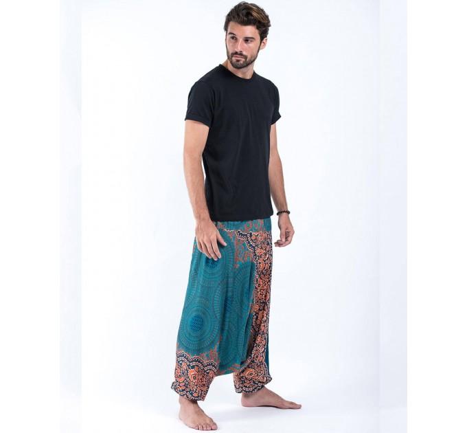 Чоловічі штани алладіни стильні зелені