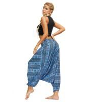 Жіночі штани шаровари блакитні знак Ом