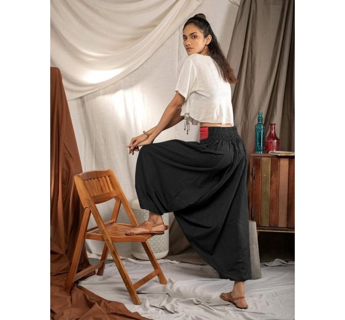 Жіночі штани з матнею східні чорні