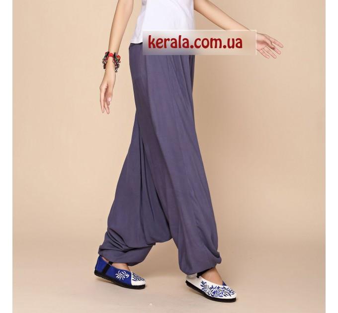 Аладіни штани жіночі сірі для йоги