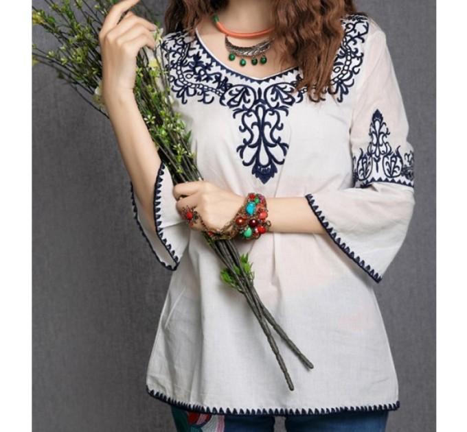 Блуза біла у вінтажному стилі