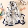 Ніжний жіночий шарф з шовку стильний