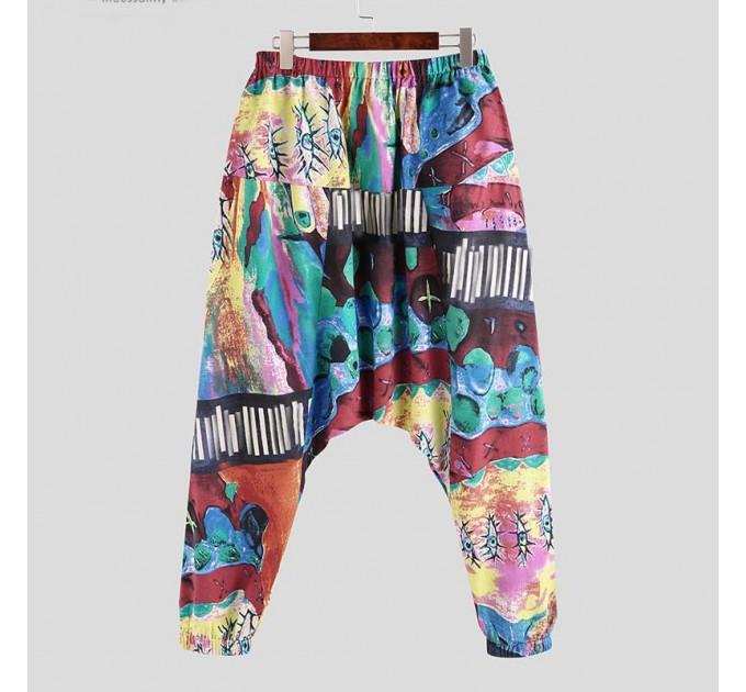 Алладіни штани лляні широкі модні L, XL