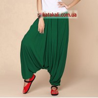 Аладіни штани жіночі зелені бавовняні