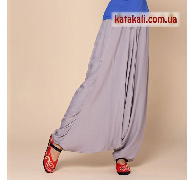 Аладіни штани жіночі сірі бавовняні