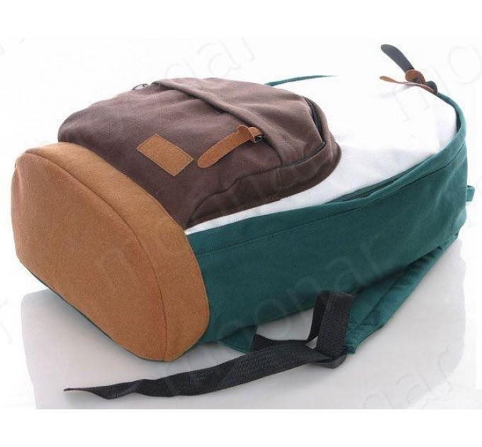 Рюкзак міський зелений канвас стильний