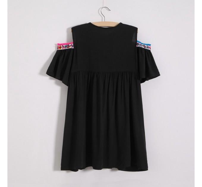 Блузка літня з відкритими плечами