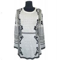 Платье-туника с вендельным узором