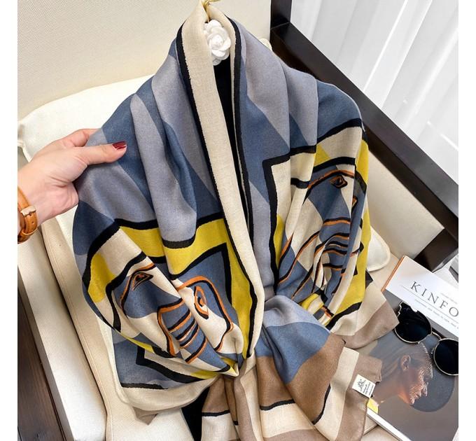 Жіночий шарф благородний сірий